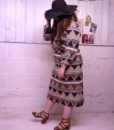 70s vintage African maxi dress 6