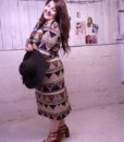 70s vintage African maxi dress 8