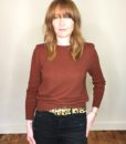 40s vintage russet knitted sweater 1