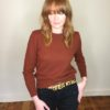40s vintage russet knitted sweater 2