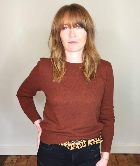 40s vintage russet knitted sweater 3