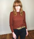 40s vintage russet knitted sweater 4