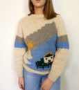 70s Vintage 'cottage' chunky knitted jumper 1