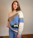 70s Vintage 'cottage' chunky knitted jumper 2