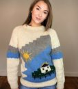 70s Vintage 'cottage' chunky knitted jumper 4