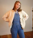 70s Vintage Aran Cable knit Cardigan 1