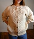 70s Vintage Aran Cable knit Cardigan 5