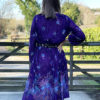 70s purple pleated dress 2