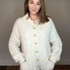 70s vintage cable knit cardigan 1