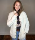 70s vintage cable knit cardigan 5