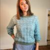 70s vintage green scallop knit jumper 3