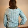 70s vintage green scallop knit jumper 5