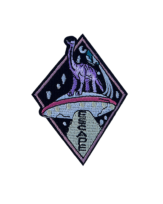 Dinosaur in space patch 2