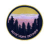 'Make more detours' yellow iron-on patch