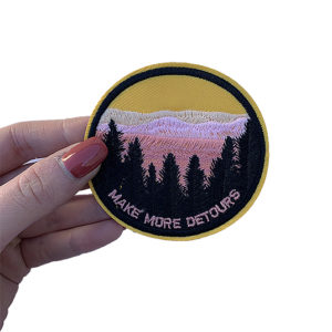 'Make more detours' yellow iron-on patch 2