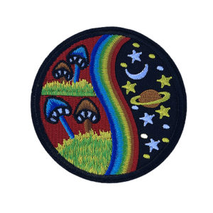'Psychedelic shrooms' iron-on patch 2