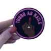 'Tough as nails' bright pink iron on patch 1