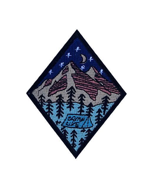 'Camp Life' mountain iron on patch 2