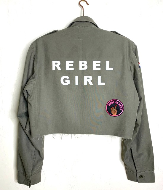 rebel girl vintage cropped military jacket 1