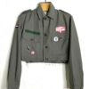 rebel girl vintage cropped military jacket 2