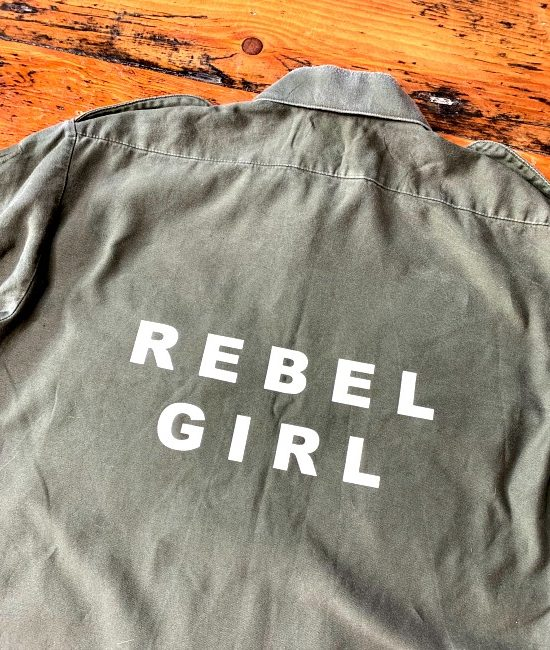 rebel girl vintage military shirt 3