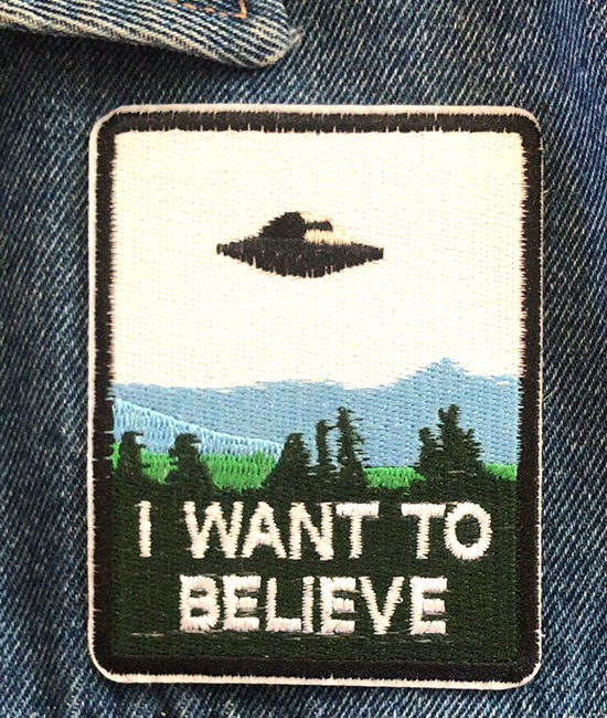 'I want to believe' alien iron-on patch