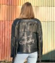 Vintage leather biker tassle jacket customised 4