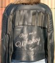 Vintage leather biker tassle jacket customised 5