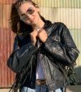Vintage leather biker tassle jacket customised 7