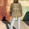 vintage military jacket customised 6