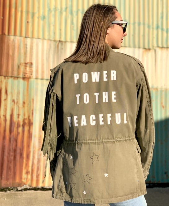vintage military jacket customised 7