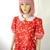 70s vintage red dress spots and stripes 2