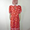70s vintage red dress spots and stripes 3