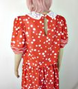 70s vintage red dress spots and stripes 5