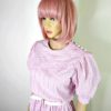 80s vintage pink candy stipe dress 3