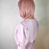 80s vintage pink candy stipe dress 4