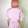 80s vintage pink candy stipe dress 5