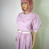 80s vintage pink candy stipe dress 6