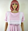 80s vintage pink lace summer dress 4