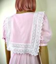 80s vintage pink lace summer dress 5