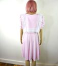 80s vintage pink lace summer dress 6