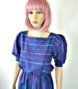 80s vintage spectrum striped day dress 2