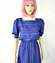 80s vintage spectrum striped day dress 3