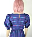 80s vintage spectrum striped day dress 4