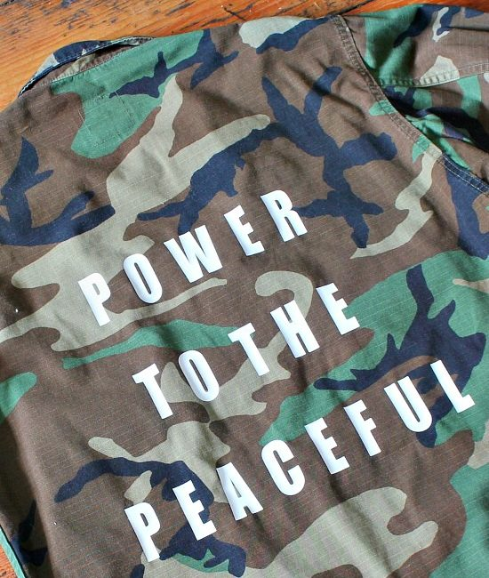 Power to the peaceful military jacket 3-2