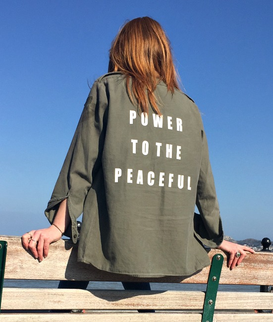 power to the peaceful vintage military shirt 11
