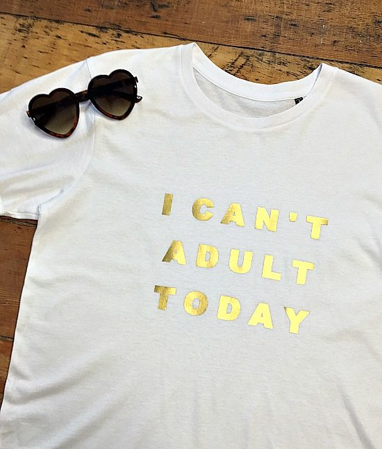 I can't adult today organic slogan tshirt 234